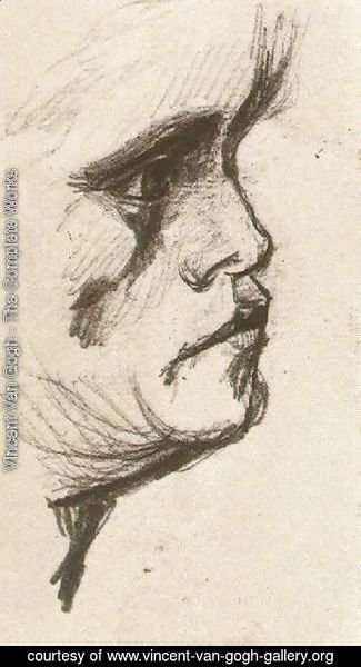 Vincent Van Gogh - Head of a Man 5