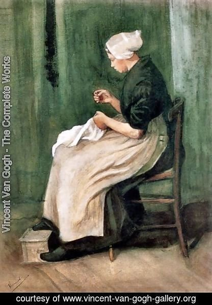 Vincent Van Gogh - Scheveningen Woman Sewing 2