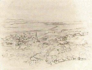 Vincent Van Gogh - Bird's Eye View of Saint-Remy