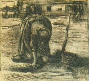 Vincent Van Gogh - Peasant Woman, Planting Potatoes
