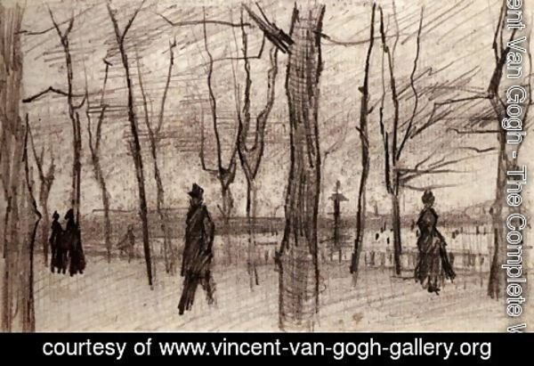 Vincent Van Gogh - Luxembourg Garden in Paris