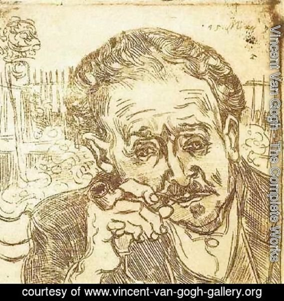 Vincent Van Gogh - Portrait of Doctor Gachet (A man with pipe)
