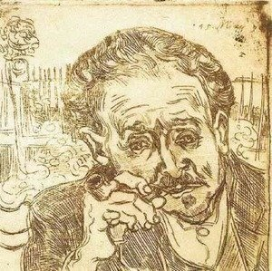 Portrait of Doctor Gachet (A man with pipe)