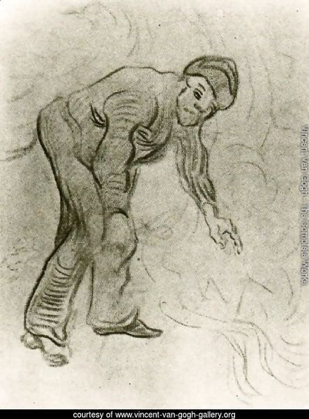 Sketch of a Stooping Man
