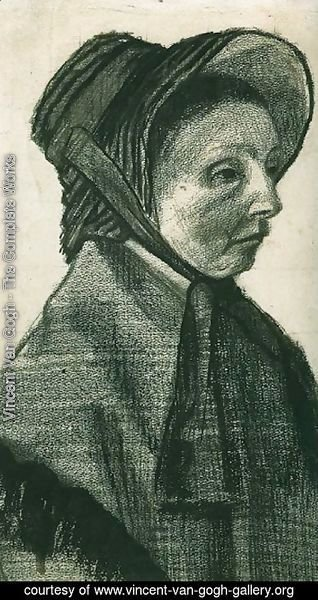 Vincent Van Gogh - Woman with Hat, Head