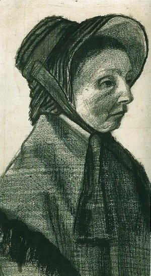 Woman with Hat, Head