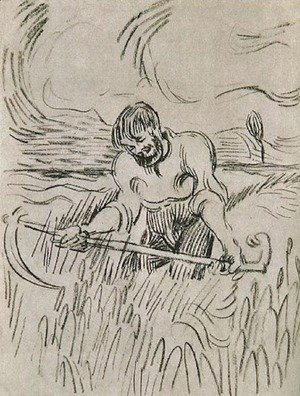 Vincent Van Gogh - Man with Scythe in Wheat Field
