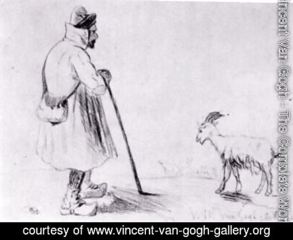 Vincent Van Gogh - The Goat Herd