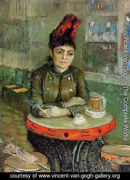 Vincent Van Gogh - Woman in the 'Cafe Tambourin'