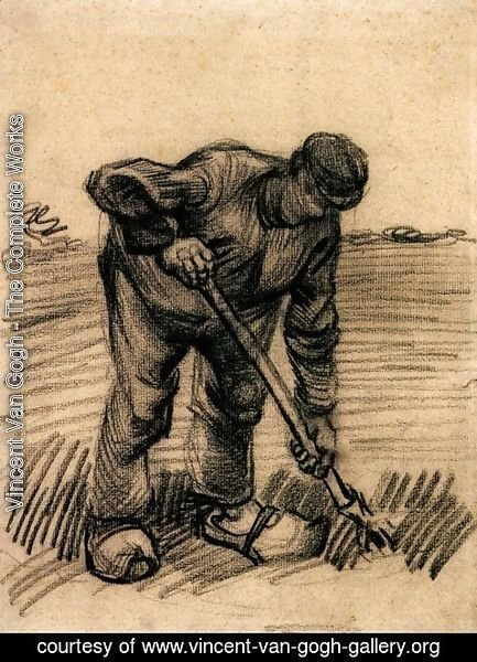 Vincent Van Gogh - Peasant Lifting Potatoes 2