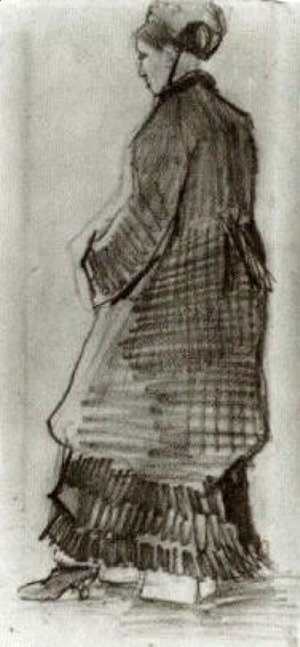 Vincent Van Gogh - Woman with Hat, Coat and Pleated Dress