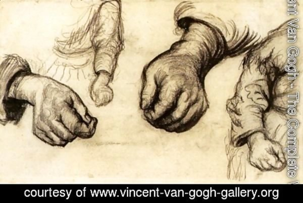 Vincent Van Gogh - Two Hands and Two Arms