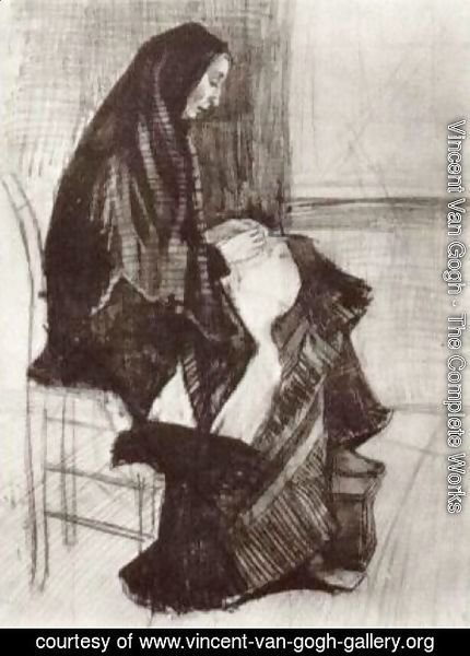 Vincent Van Gogh - Figure of a Woman with Unfinished Chair