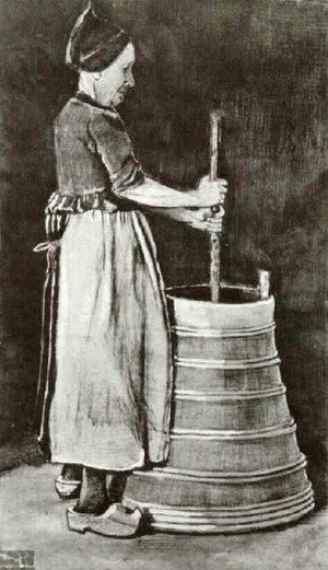 Vincent Van Gogh - Woman Churning Butter