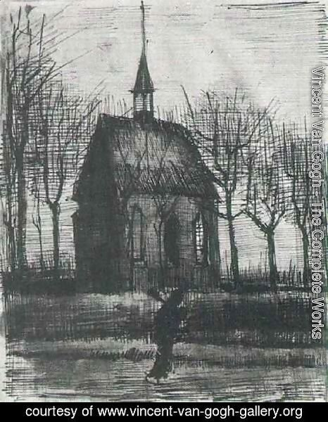 Vincent Van Gogh - Church in Nuenen, with One Figure
