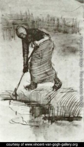 Vincent Van Gogh - Peasant Woman, Standing near a Ditch or Pool