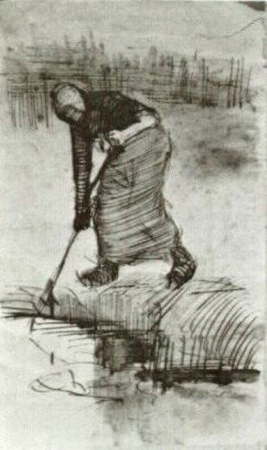 Peasant Woman, Standing near a Ditch or Pool