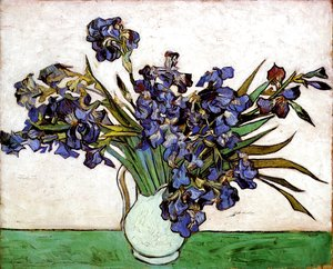 Vincent Van Gogh - Vase with Irises 2