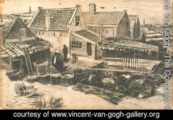 Vincent Van Gogh - Fish-Drying Barn, Seen From a Height