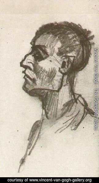 Vincent Van Gogh - Head of a Man, Bareheaded