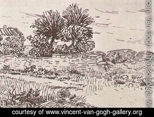 Vincent Van Gogh - Landscape with the Wall of a Farm