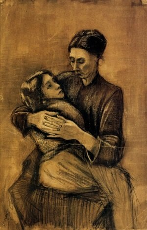 Vincent Van Gogh - Woman with a Child on Her Lap