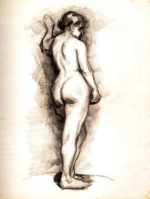 Vincent Van Gogh - Standing Female Nude Seen from the Back 2