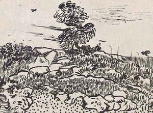 Vincent Van Gogh - Rocks with Oak Tree 2