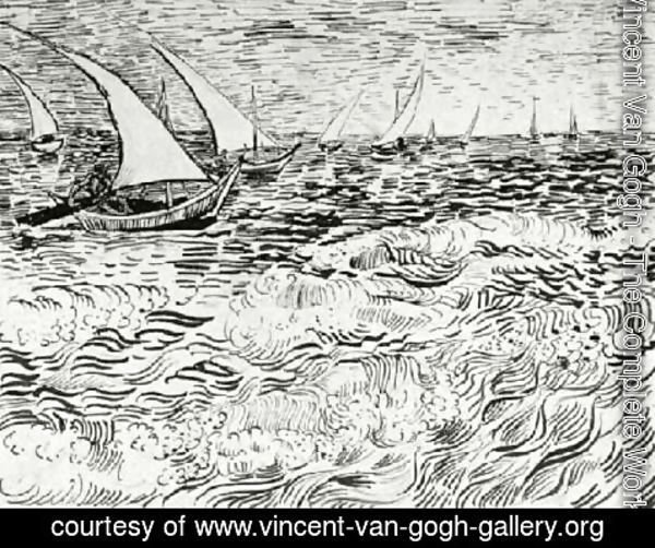 Vincent Van Gogh - A Fishing Boat at Sea 3