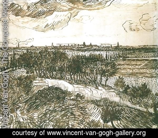 Vincent Van Gogh - View of Arles from a Hill