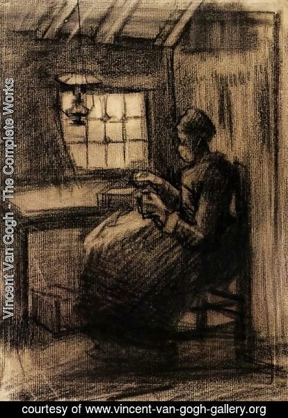Vincent Van Gogh - Woman Sewing 4