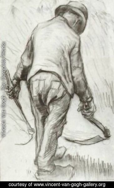 Vincent Van Gogh - Peasant with Sickle, Seen from the Back 4