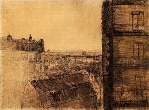 Vincent Van Gogh - View from the Apartment in the Rue Lepic