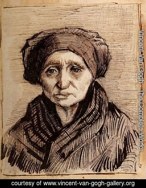 Vincent Van Gogh - Head of a Woman 16