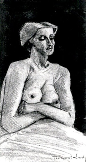 Vincent Van Gogh - Nude Woman, Half-Length