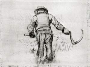 Vincent Van Gogh - Peasant with Sickle, Seen from the Back 5