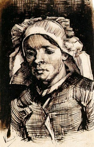 Vincent Van Gogh - Head of a Woman 18