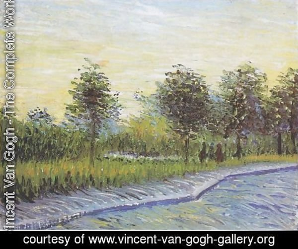 Vincent Van Gogh - Way in the Voyer d'Argenson Park in Asnieres