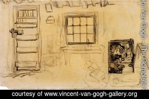 Vincent Van Gogh - Studies of the Interior of a Cottage, and a Sketch of The Potato Eaters