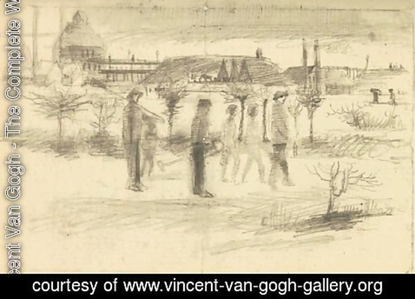 Vincent Van Gogh - Miners in the Snow at Dawn