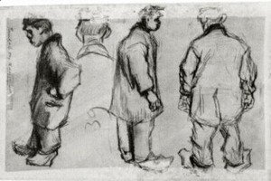 Vincent Van Gogh - Studies of Three Peasants and a Head