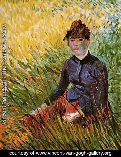 Vincent Van Gogh - Woman Sitting in the Grass