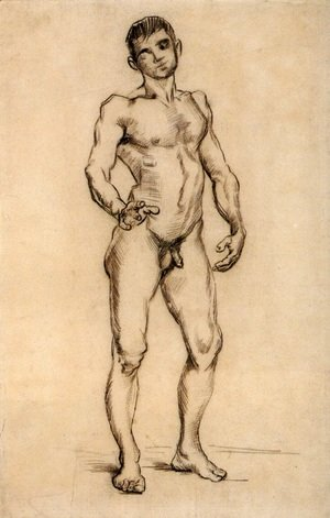 Standing Male Nude Seen from the Front 3
