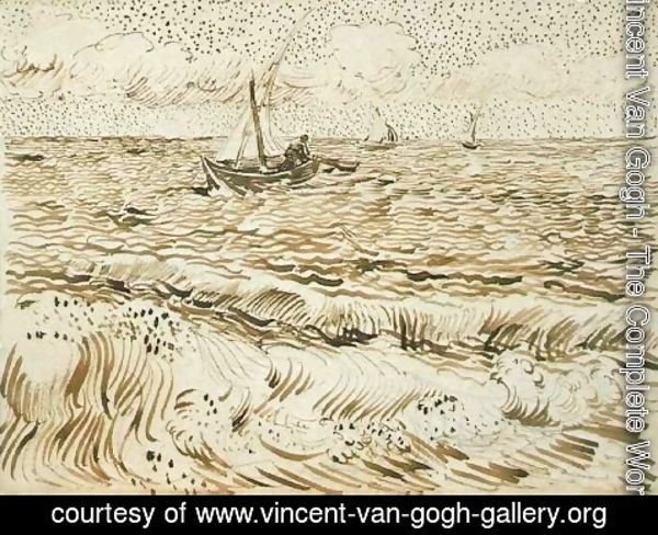 Vincent Van Gogh - A Fishing Boat at Sea 4