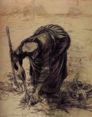 Peasant Woman, Planting Beets 2