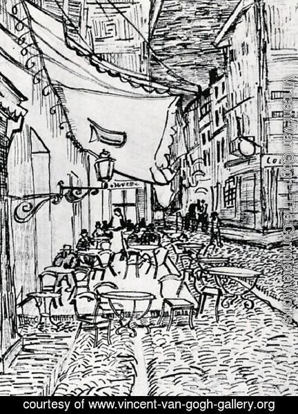Vincent Van Gogh - The Cafe Terrace on the Place du Forum, Arles, at Night