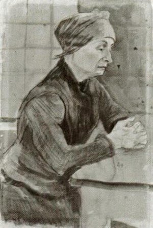 Vincent Van Gogh - Woman with Folded Hands, Half-Length