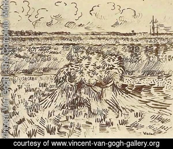 Vincent Van Gogh - Wheat Field with Sheaves 3