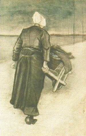 Vincent Van Gogh - Scheveningen Woman with Wheeelbarrow