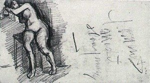 Vincent Van Gogh - Female Nude, Seated 2